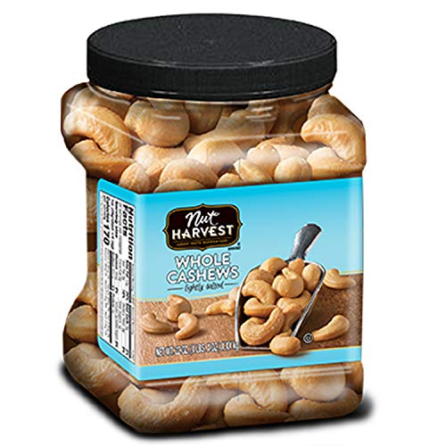 Nut Harvest, Lightly Salted Whole Cashews, 24oz Jar