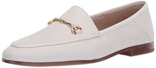 Sam Edelman Women's Loraine Loafer, Bright White Leather, 7.5 M US