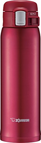 Zojirushi SM-SD48RC Stainless Steel Mug, 16-Ounce, New Clear Red