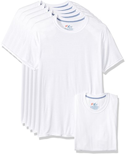 Hanes Men's 5-Pack X-Temp Comfort Cool Crewneck Undershirt, White, Small