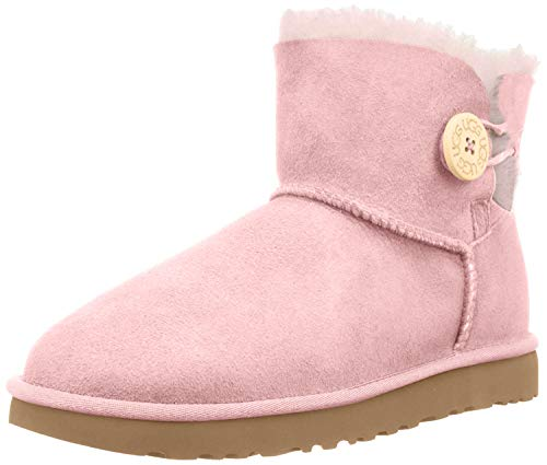 UGG Womens Mini Bailey Button II Pink Crystyal Boot - 6