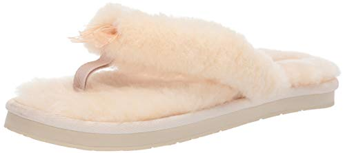 UGG Women's W Fluff FLIP Flop III Slipper, natural, 7 M US