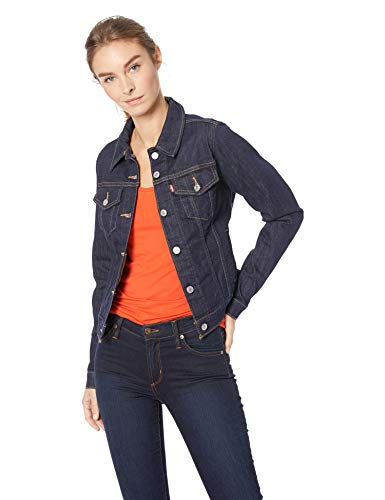 Levi's Women's Original Trucker Jacket, True Rinse, Medium