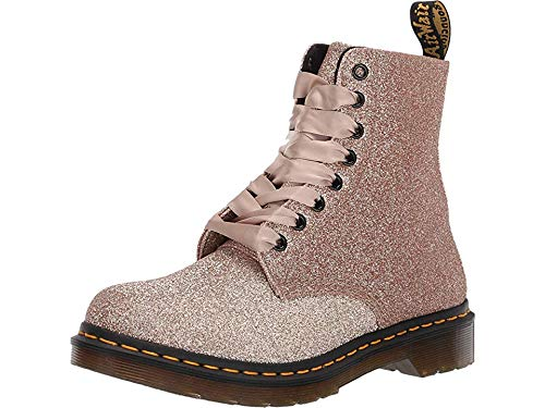 Dr. Martens 1460 Pascal Glitter Rose Gold Uncoated Glitter Pu UK 5 (US Women's 7)