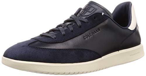 Cole Haan Men's Grandpro Turf Sneaker Tumbled/Navy Ink Suede/White, 12 M US