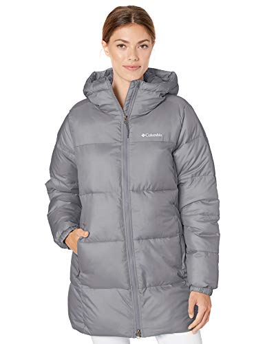 Columbia Women's Puffect Mid Hooded Jacket, City Grey, X-Small