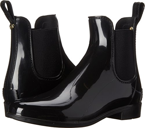 Sam Edelman Women's Tinsley Rain Boot, Black Polished, 6 Medium US