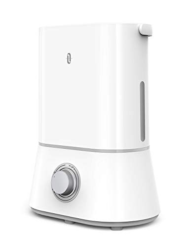 TaoTronics 26dB Quiet Humidifiers for Bedroom, 4L Ultrasonic Cool Mist Humidifier, 12-50 Hours, Easy to Clean, Nano-Coating, 360� Nozzle, Auto Shut-Off [Upgraded](White)