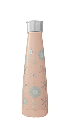 S'ip by S'well 200815681 Stainless Water Bottle, 15 oz, Flurry