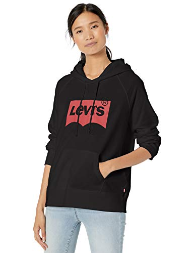 Levi's Women's Graphic Sport Sweatshirt Hoodie, Sportswear Batwing Black, XX-Large