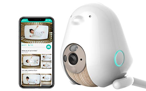 Cubo AI Baby Monitor: Sleep Safety with Covered Face & Danger Zone Alerts, HD 1080p Night Vision Camera, 2-Way Audio with Cry and Temperature & Humidity Detection