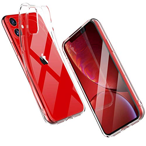 Shamo's Case for Apple iPhone 11 Cover (2019), 6.1-Inch, Shock Absorption TPU Rubber Gel Transparent Anti-Scratch Clear Back, HD Crystal Clear