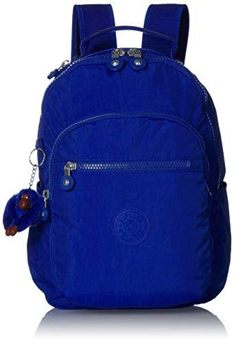 Kipling Women's Seoul Go Small, Padded, Adjustable Backpack Straps, Zip Closure, Blue Tropics Tonal
