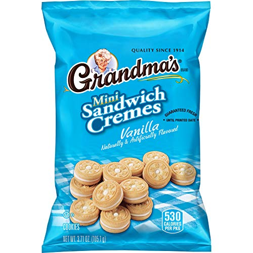 Grandma's Mini Cookies, Vanilla Cr�me, 3.71 Ounce (Pack of 24)