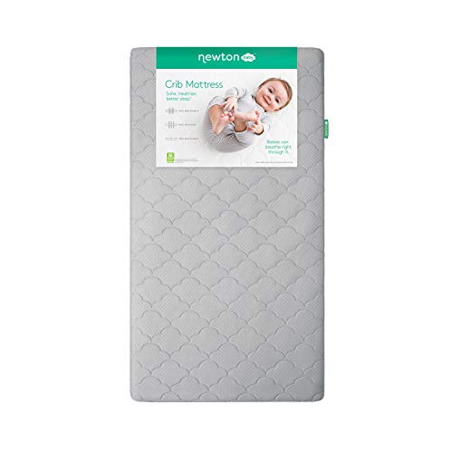 Newton Baby Crib Mattress and Toddler Bed | 100% Breathable Proven to Reduce Suffocation Risk, 100% Washable, Hypoallergenic, Non-Toxic, Better Than Organic - Moonlight Grey