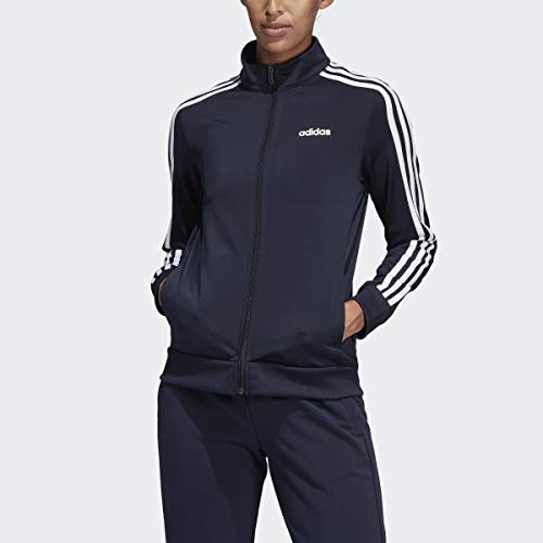 adidas Women's Essentials 3-stripes Tricot Track Jacket, Legend Ink/White, X-Small