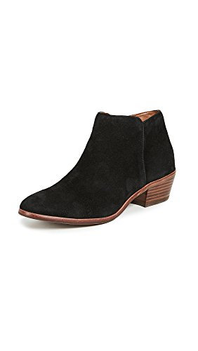 Sam Edelman Women's Petty Ankle Bootie, Black Suede, 5 M US