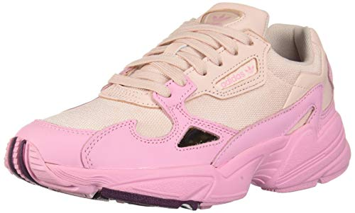 adidas Originals Women's Falcon Running Shoe, Ice Pink/True Pink/Chalk Purple, 6 M US