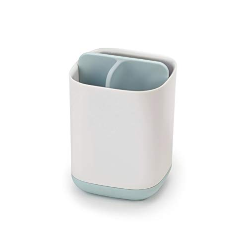 Joseph Joseph 70500 EasyStore Toothbrush Holder Bathroom Storage Organizer Caddy, Small, Blue