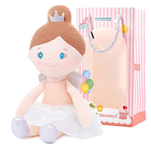 Gloveleya Baby Girl Gifts Soft First Baby Doll Plush Angel Dolls Dream Girls Pink 15 Inches