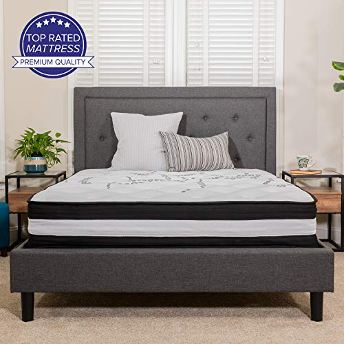 Flash Furniture Capri Comfortable Sleep 12 Inch Foam and Pocket Spring Mattress, Queen Mattress in a Box