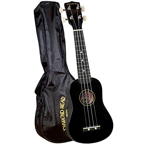 Diamond Head DU-100 Rainbow Soprano Ukulele - Black