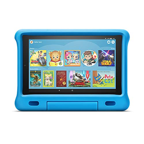 "All-New Fire HD 10 Kids Edition Tablet - 10.1"" 1080p full HD display, 32 GB, Blue Kid-Proof Case"