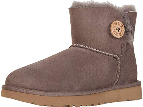 UGG Womens Mini Bailey Button II Boot, Mole, Size 5