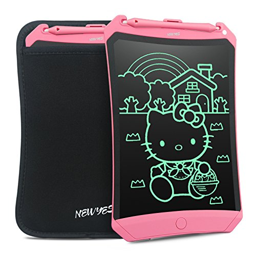 NEWYES 8.5 Inches LCD Writing Tablet Robot Pad Kids Drawing Board Digital Doodle Pad Electronic Drawing Notepad (Pink with case)