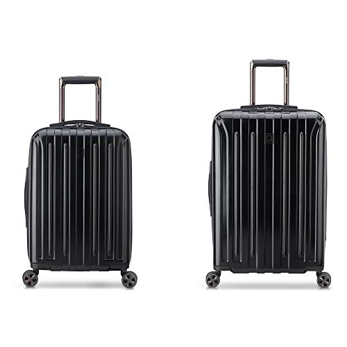 "DELSEY Paris Titanium DLX 2-Piece Spinner Luggage Set (Carry-on & 25""), Black"