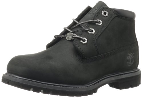 Timberland Women's Nellie Double Waterproof Ankle Boot,Black,7 W US