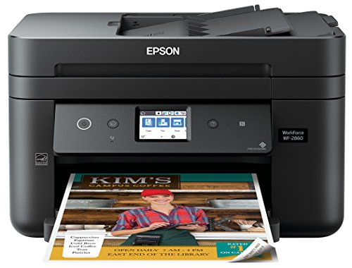 Epson Workforce WF-2860 All-in-One Wireless Color Printer with Scanner