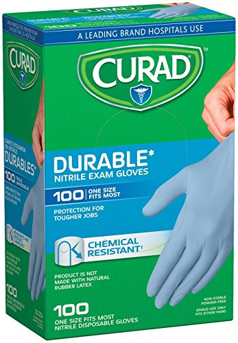 Curad Nitrile Disposable Exam Gloves-100 Count