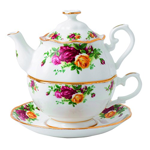 Royal Albert 玫瑰骨瓷茶具3件套