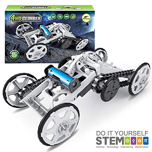 Mochoog STEM Toys Science Kit for Kids - 4WD Electronic Building Toy Car - DIY Engineering Toys - Science Experiment Kits for Boys Girls - Birthday Gift Toy for Kids Age 8 + Teens Adults