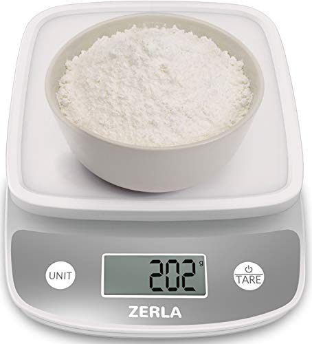 Digital Kitchen Scale by ZERLA�, Multifunction Food Scale with Range From 0.04oz to 11lbs, White