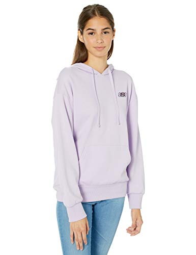 Skechers Women's Heritage Hoodie Sweatshirt, Orchid Hush, M