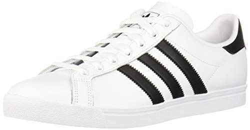 adidas Originals Men's Coast Star Sneaker, White, Black, White, 11.5 Medium US