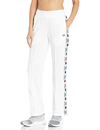 Champion LIFE Women's Tricot Track Pant, White, 2X Large