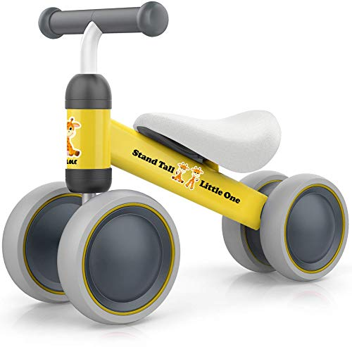BEKILOLE Baby Balance Bike - Baby Bike for 12-24 Months, Sturdy Balance Bike for 1 Year Old, Perfect as First Bike and Birthday Gift, Safe Riding Toys for 1 Year Old Girl Gifts Ideal First Bike-Yellow
