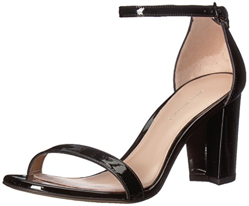 Stuart Weitzman Women's NEARLYNU Heeled Sandal, Black Patent, 5.5 Medium US