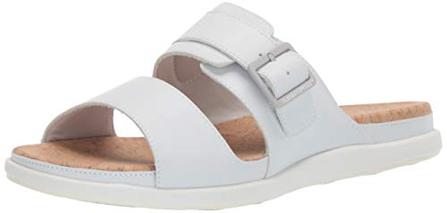 CLARKS Women's Step June Tide Sandal, White Synthetic, 065 W US