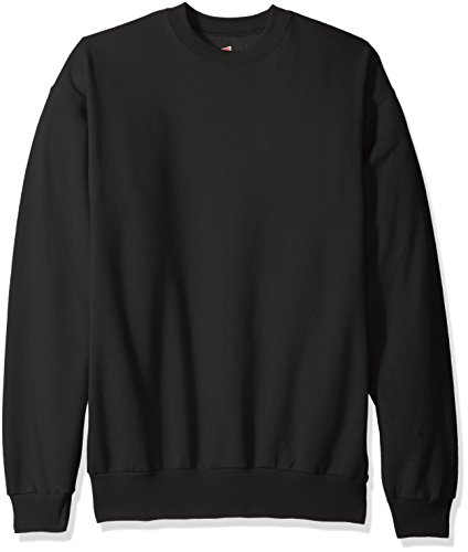 Hanes Men's Ecosmart Fleece Sweatshirt, Black, Small