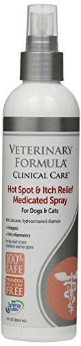 Veterinary Formula Clinical Care Hot Spot and Itch Relief Spray for Dogs and Cats - Medicated Topical Treatment for Skin Irritations and Hot Spots - Fast Acting, Heals and Soothes (8oz)