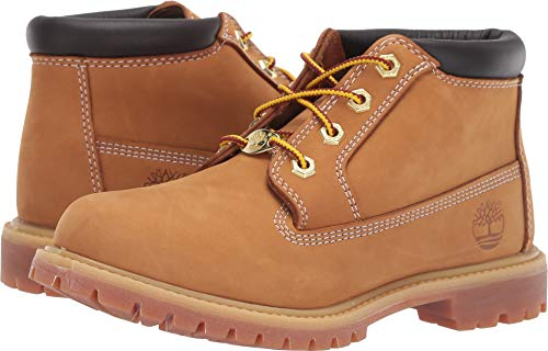 Timberland Women's Nellie Double Waterproof Ankle Boot,Wheat Yellow,7 W US