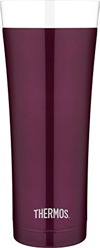 Thermos 16 Ounce Vacuum Insulated Stainless Steel Travel Tumbler, Burgundy
