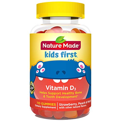 Nature Made Kids First Vitamin D3 Gummies, 110 Count for Healthy Bone Development ? (Packaging May Vary)