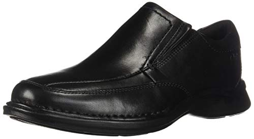CLARKS Men's Kempton Free Loafer, Black Leather, 75 M US