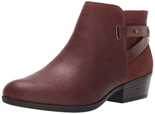 Clarks Women's Addiy Gladys Fashion Boot, Dark Tan Leather, 50 M US