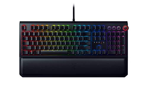 Razer BlackWidow Elite Mechanical Gaming Keyboard: Orange Mechanical Switches - Tactile & Silent - Chroma RGB Lighting - Magnetic Wrist Rest - Dedicated Media Keys & Dial - USB Passthrough